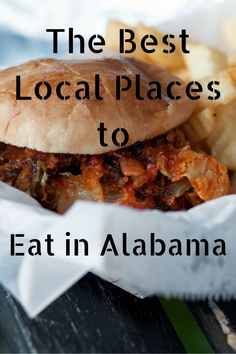 Local eateries you must try passing through Alabama.