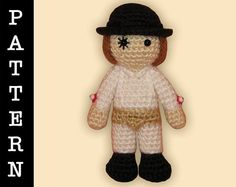 Amigurumi Alex from A Clockwork Orange doll by ShadyCreations - pattern available on Ravelry, pattern and completed doll available on Etsy
