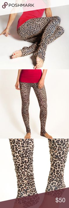 """🐆Kira Grace Flirt Skinny Yoga Tight Wildcat NWT🐆 🐆 Me-ow! Leopard leaps into the spotlight as a holiday print that never goes out of style. The Flirt Skinny Yoga Tight is a designer yoga legging meant to give you mile long legs and full, technical support during your practice. Runs from from a 32""""-34"""" inseam, so you can wear it long or cinch it up for a """"ruchier"""" look! Includes low rise, body contoured waistband, fitted through thigh and leg, comfortable compression, anti-chafe seams…"""