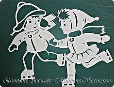 Продолжаем подготовку к Новогоднему празднику:) Это окошечко посвящено зимним забавам. фото 15