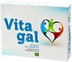 VITAGAL // Witaminy dla dorosłych. Preparat stanowi odpowiednio dobrany zestaw witamin i minerałów dla dorosłych, który pomaga uzupełnić dietę w niezbędne dla prawidłowego funkcjonowania organizmu witaminy oraz minerały. http://www.gal.com.pl/produkty/suplementy-diety/vitagal.html