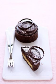 Chocolate and Meyer lemon tart