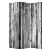 """Found it at Wayfair - 72"""" X 48"""" Distressed Wood Canvas 3 Panel Room Divider"""