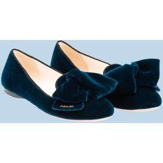 Prada Slippers ($530) found on Polyvore