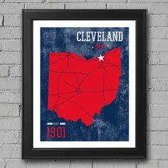 Cleveland Indians Print on Etsy, $12.00