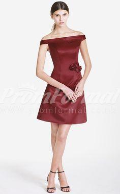 Burgundy short prom dresses