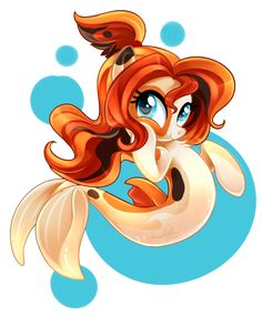 Koi Sea Pony by JaDeDJynX.deviantart.com on @DeviantArt
