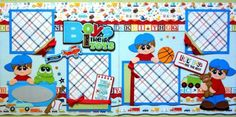 Boys-Their-Toys-2-premade-scrapbook-pages-layout-paper-piecing-for-album