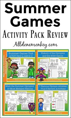 Is your family excited about the upcoming Summer Games? Learn and explore together with this fun Summer Games activity pack for kids!