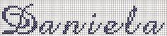 Professione Donna: Schemi per il punto croce: Nomi da ricamare a punto croce in corsivo