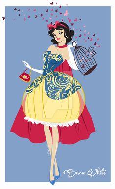Explore the Disney Snow White collection - the favourite images chosen by rjoyhelvie on DeviantArt. Snow White 1937, Snow White Art, Snow White Disney, Disney Princess Art, Disney Fan Art, Disney Style, Disney Love, Cinderella Art, Arte Disney
