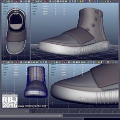 "01.18.16 | ""Adidas Yeezy Boost 750"" CGI WIP Pt 9 (modeling) ____________________________________ Log: Adding the infamous Adidas logo to the sole and starting to block in the details for the bottom of the sole. Moving right along...  ____________________________________ #love #3D #3dprinting #cgi #fashion #sneakers #sneakerhead #shoes #modeling #style #kanyewest #art #artist #industrialdesign #productdesign #sew #sewing #game #gaming #gamer #newyork #yeezy #designer #design #robbryantjr…"