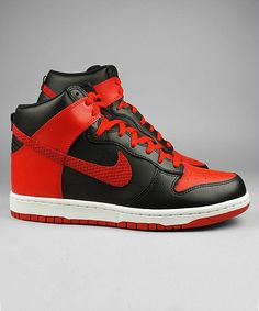 Nike Dunk High black/sport red/white