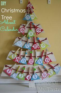 PlaceOfMyTaste: DIY CHRISTMAS TREE ADVENT CALENDAR { Tutorial }