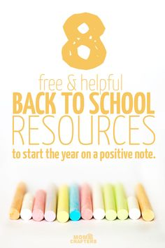 Check out this amazing list of back to school resources - for homeschooling or traditional classrooms! You'll love these free ideas.
