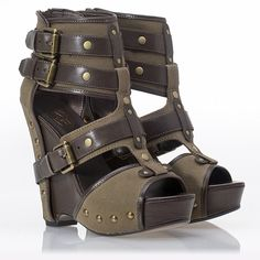 military wedges (Would love these on my Hunny B)
