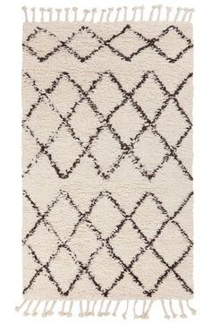 Free shipping and returns on Surya Home 'Sherpa - Lines' Wool Rug at Nordstrom.com. A bold geometric pattern updates a classic shag rug handwoven in rich wool and finished with tasseled fringe.