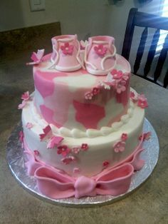 pink camo baby shower ideas - Google Search