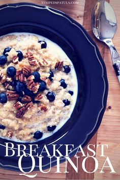 Packed with protein and nutrients, this hearty, gluten-free Blueberry Breakfast Quinoa is one of my favorite ways to start the day.