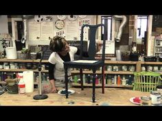 ▶ SHELBY DIY EPSIODE 4 - painting a chair with layered chalk/clay paints - revealing back, and waxing with dark wax - all American Paint products.   Taped at Fabulous Finishes Studio, Metro Detroit.