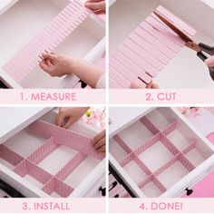 Free Combination Adjustable Drawer Organizer (Set of - desk organization office Dresser Drawer Organization, Diy Drawer Organizer, Sock Organization, Home Organisation, Drawer Organisers, Diy Drawer Dividers, Diy Jewelry Organizer Tray, College Closet Organization, Office Drawer Organization