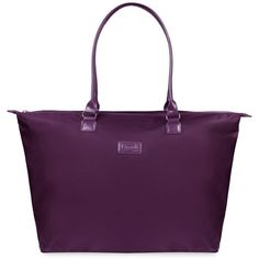 Lipault Lady Plume Large Tote Bag ($85) ❤ liked on Polyvore featuring bags, handbags, tote bags, purple, tote bag purse, purple tote, tote hand bags, purple purse and tote purses
