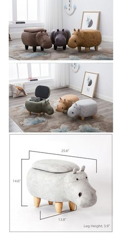 Hippo Storage Stool from Apollo Box Hippo Stool Faux Leather Design Storage Stool, Cubby Storage, Bedroom Storage, Storage Ideas, Office Storage, Craft Storage, Leather Design, Kids Furniture, Furniture Design