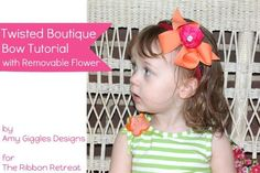 Twisted Boutique Bow Tutorial with Removable Flower