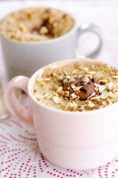 Recipe: Oatmeal Nutella Mug Cake
