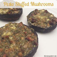 Pesto Stuffed Mushrooms - nzgirl