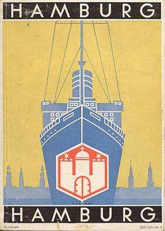 Vintage German travel guide cover designs