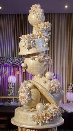 Indescribable Your Wedding Cakes Ideas. Exhilarating Your Wedding Cakes Ideas. Extravagant Wedding Cakes, Unusual Wedding Cakes, Luxury Wedding Cake, Unique Cakes, Beautiful Wedding Cakes, Gorgeous Cakes, Amazing Cakes, Boho Wedding, Wedding Shoes