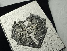 Cute bridal party gift - Cigarette Case Gothic Victorian Heart Art Nouveau by CosmicFirefly, $48.00