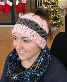 Simple & Sweet Ponytail Hat Pattern   joyful girl