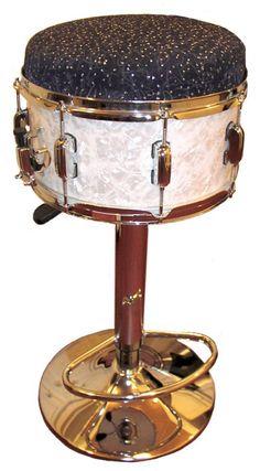 Drum bar stool