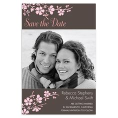 simple style save the date cards and save the date  cherry blossoms save the date cards walmart stationery