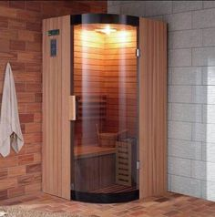Sauna fit with sauna stove, infrared sauna, Mica heater Home Spa Room, Spa Rooms, Mini Sauna, Steam Room Shower, Deco Spa, Indoor Sauna, Portable Sauna, Traditional Saunas, Sauna Heater