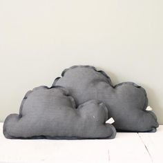 Cojín Nube Grande Gris Oscuro