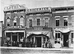 Photograph of 400 Block of Broadway. Eiseman & Co. Council Bluffs Iowa, Old West Outlaws, Old West Town, Victorian Buildings, Central City, Colorado Rockies, Historical Pictures, Old Pictures, Wild West