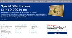 50k Bonus After $1,000 Spend - American Express Gold Card (Premier Rewards) - http://therewardboss.com/2015/07/17/50k-bonus-1000-spend-american-express-gold-card-premier-rewards/