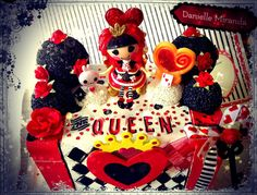 Lalaloopsy Queen of Hearts Red Roses Wonderland Trinket Jewelry Box by DANIELLEMIRANDA