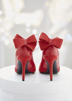 Chaussures rouge noeuds