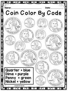 Kindergarten and First Grade Money Unit: Coin Unit 2nd Grade Classroom, 1st Grade Math, Math Classroom, Future Classroom, Grade 1, Second Grade, Homeschool Kindergarten, Elementary Math, Teaching Math