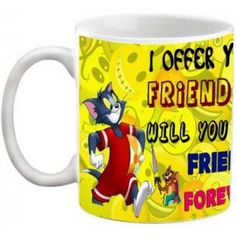 COFFEE MUG - FRIENDSHIP - I OFFER YOU MY FRIENDSHIP QUOTES PRINTED WHITE