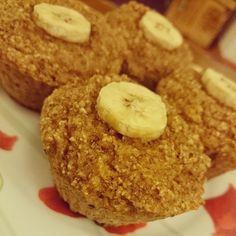Bolinhos de banana. Esse é #semaçucar #semgluten #semlactose #semgraos