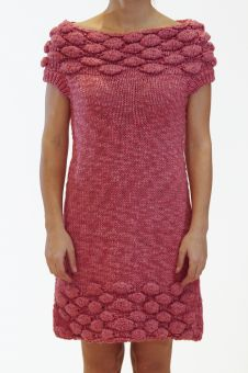 Chunky knitted dress Feminine dress in a statement color Sleeveless Easy to wear by Ioanna Kourbela