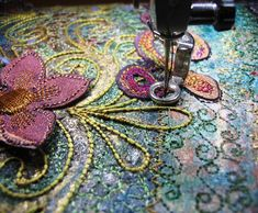machine embroidery on paper                                                                                                                                                                                 More