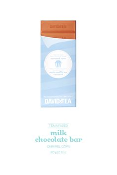 Milk chocolate infused with our Caramel Corn tea.