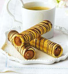 Knusprige Choco-Erdnuss-Röllchen