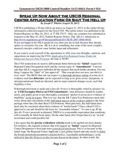 comment-to-uscis-omb-control-number-1615-0061-form-i924-aug-2012 by BigJoe5 via Slideshare